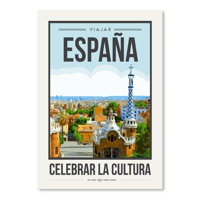 Americanflat 'Travel Poster Spain' by Brooke Witt Vintage Advertisement