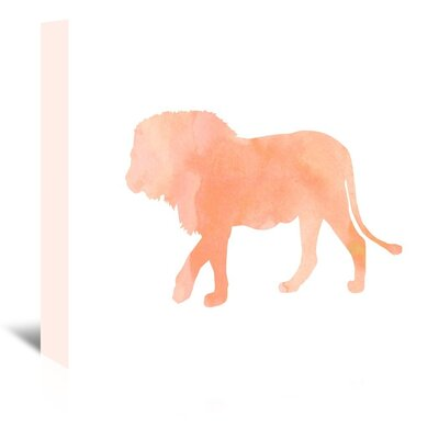 Americanflat 'Coral Lion' Graphic Art Wrapped on Canvas