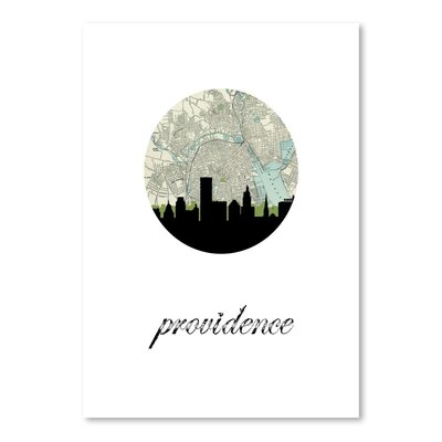 Americanflat 'Providence Map Skyline' by PaperFinch Graphic Art
