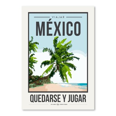 Americanflat 'Travel Poster Mexico' by Brooke Witt Vintage Advertisement