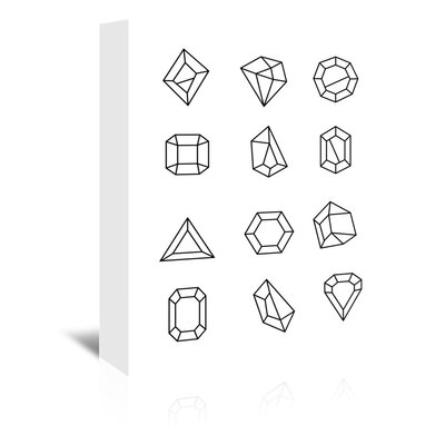 Americanflat 'Gems_12' The Glass Mountain Graphic Art Wrapped on Canvas