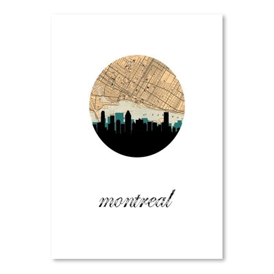 Americanflat 'Montreal Map Skyline' by PaperFinch Graphic Art