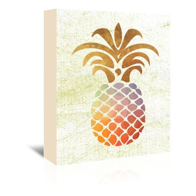 Americanflat 'Pineapple1' by Ikonolexi Graphic Art Wrapped on Canvas