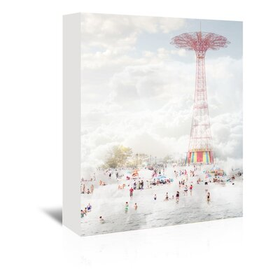 Americanflat 'Brooklyn-Eiffel-Tower' by Mina Teslaru Photographic Print Wrapped on Canvas