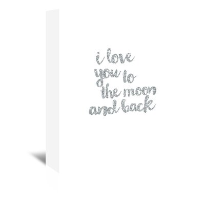 Americanflat 'I love You to the Moon & Back Silver' Typography Wrapped on Canvas