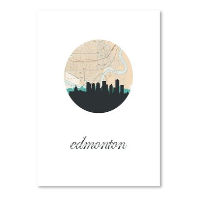 Americanflat 'Edmonton Map SKyline' by PaperFinch Graphic Art