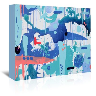 Americanflat 'Abstract Drips' by Deb McNaughton Art Print Wrapped on Canvas