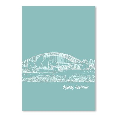 Americanflat 'Skyline Sydney 5' by Brooke Witt Graphic Art