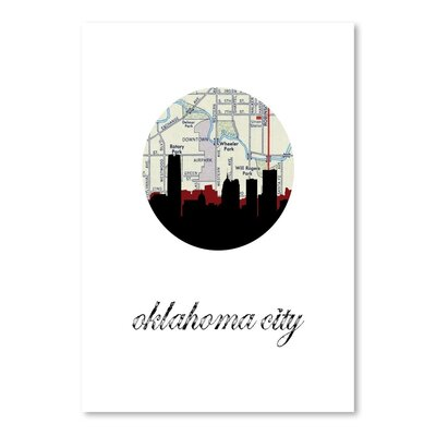 Americanflat 'OK City Map Skyline' by PaperFinch Graphic Art