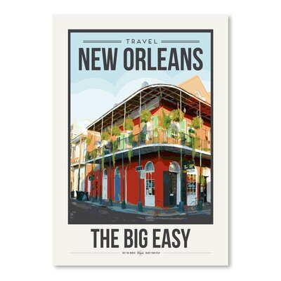 Americanflat 'Travel Poster New Orleans' by Brooke Witt Vintage Advertisement