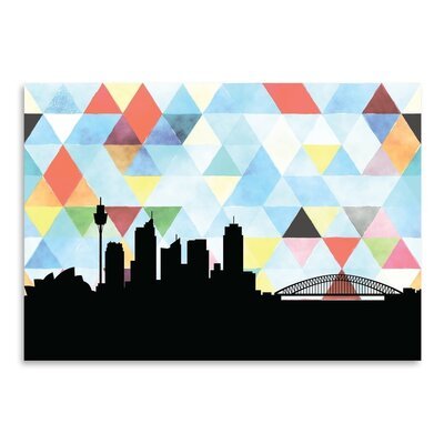 Americanflat 'Sydney_Triangle' by PaperFinch Graphic Art