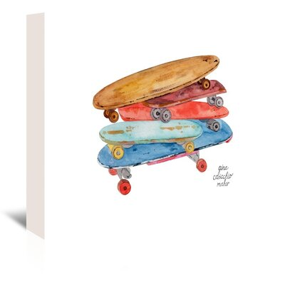 Americanflat 'Skate Boards' by Gina Maher Art Print Wrapped on Canvas