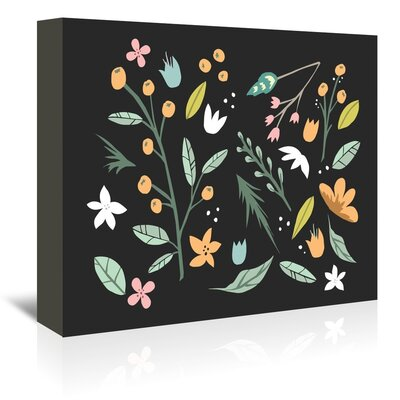 Americanflat 'Floralcollage' by The Glass Mountain Graphic Art Wrapped on Canvas