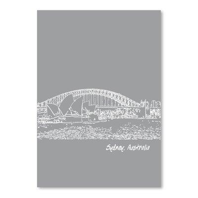 Americanflat 'Skyline Sydney 2' by Brooke Witt Graphic Art