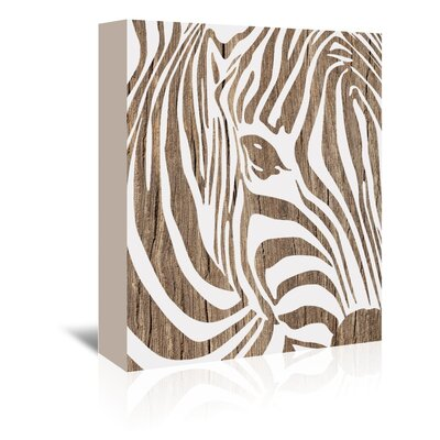 Americanflat 'Zebra' by Ikonolexi Graphic Art Wrapped on Canvas