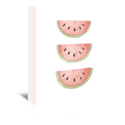 Americanflat 'Watermelons' by The Glass Mountain Graphic Art Wrapped on Canvas