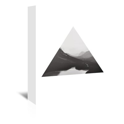 Americanflat 'Mountain_Bw_Triangle_' by The Glass Mountain Graphic Art Wrapped on Canvas