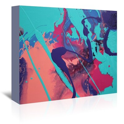 Americanflat 'Aqua Splatters' by Deb McNaughton Art Print Wrapped on Canvas