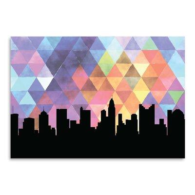 Americanflat 'Columbus Triangle' by Paper Finch Graphic Art