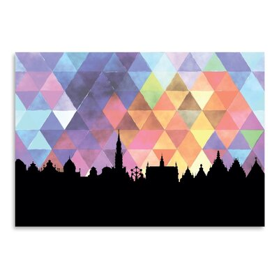 Americanflat 'Brussels Triangle' by Paper Finch Graphic Art