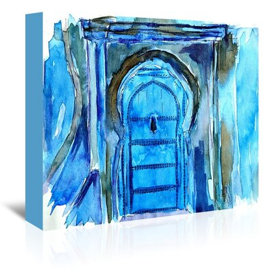 Americanflat 'Chefchaouen Morocco Blue Door' by M Bleichner Art Print Wrapped on Canvas