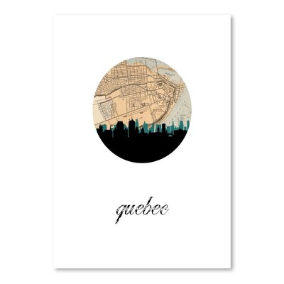 Americanflat 'Quebec Map Skyline' by PaperFinch Graphic Art