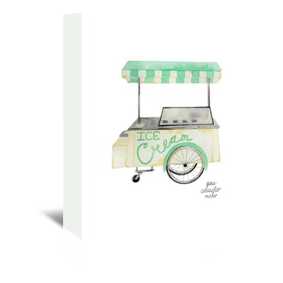 Americanflat 'Icecream Cart' by Gina Maher Art Print Wrapped on Canvas