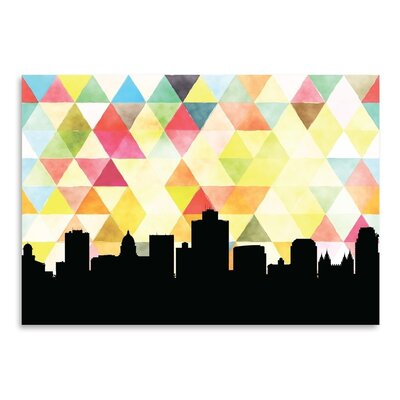 Americanflat 'SaltLakeCity_Triangle' by PaperFinch Graphic Art