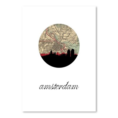 Americanflat 'Amsterdam Map Skyline' by Paper Finch Graphic Art