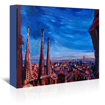 Americanflat 'Barcelona Sagrada 3' by M Bleichner Art Print Wrapped on Canvas