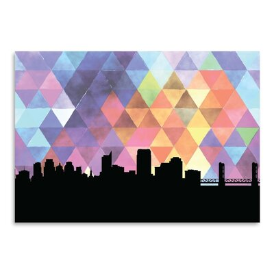 Americanflat 'Sacramento_Triangle' by PaperFinch Graphic Art
