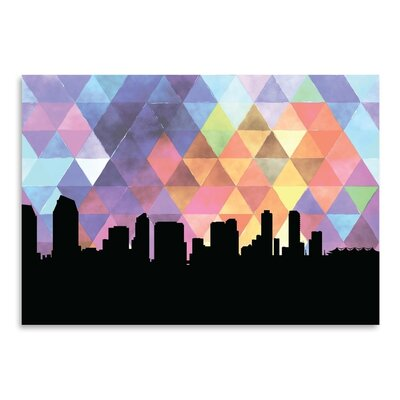 Americanflat 'SanDiego_Triangle' by PaperFinch Graphic Art