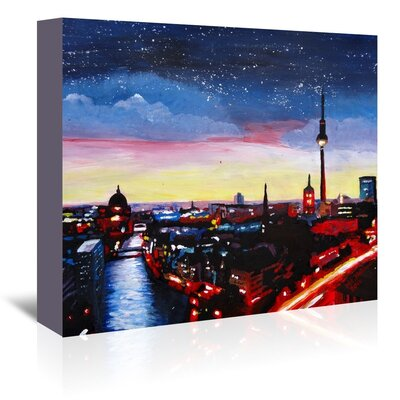 Americanflat Berlin 3' by Markus Bleichner Art Print Wrapped on Canvas