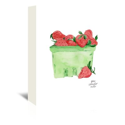 Americanflat 'Strawberries' by Gina Maher Art Print Wrapped on Canvas