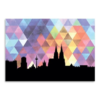 Americanflat 'Cologne Triangle' by Paper Finch Graphic Art