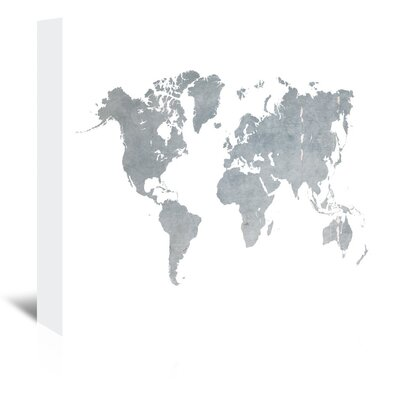 Americanflat 'World Map1' by Ikonolexi Graphic Art Wrapped on Canvas