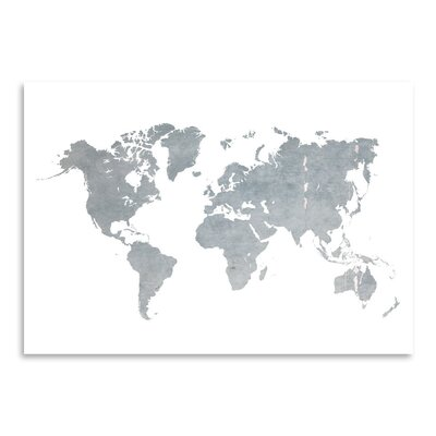 Americanflat 'World Map1' by Ikonolexi Graphic Art