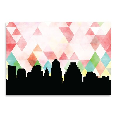 Americanflat 'Austin Triangle' by Paper Finch Graphic Art