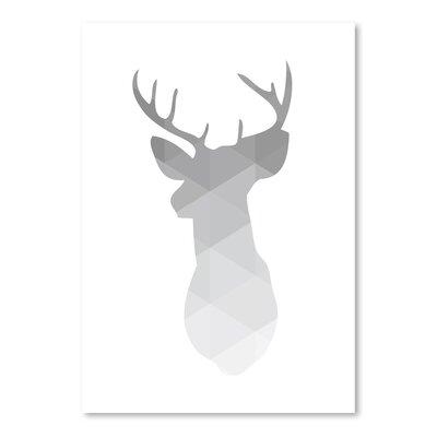 Americanflat 'Geometric Deer Up To' by Melinda Wood Graphic Art
