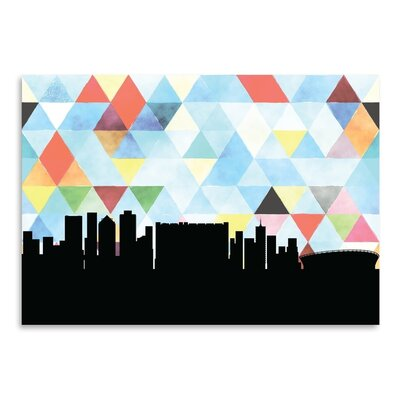 Americanflat 'Cape Town Triangle' by Paper Finch Graphic Art