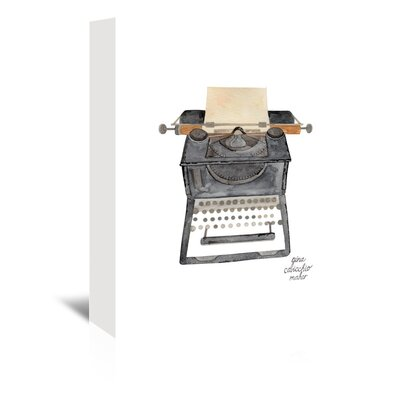 Americanflat 'Typewriter' by Gina Maher Art Print Wrapped on Canvas