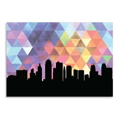 Americanflat 'KansasCity_Triangle' by PaperFinch Art Print