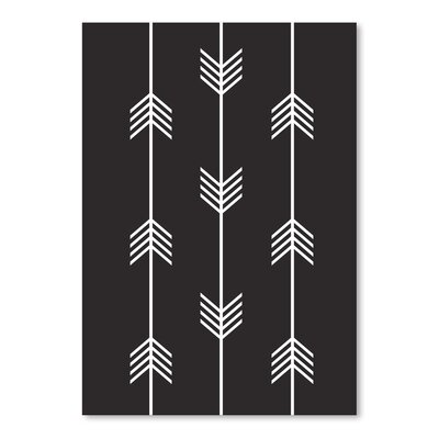 Americanflat 'Three Tribal Arrows Black Up To' by Melinda Wood Graphic Art