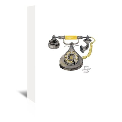 Americanflat Rotary Phone' by Gina Maher Art Print on Canvas