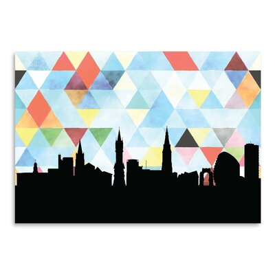 Americanflat 'Leicester_Triangle' by PaperFinch Graphic Art