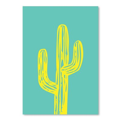 Americanflat 'Cactus on Teal' by Ashlee Rae Graphic Art