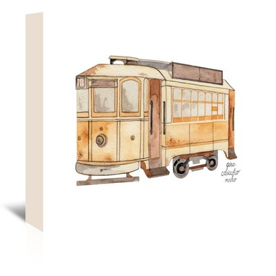 Americanflat 'Street Car' by Gina Maher Art Print Wrapped on Canvas