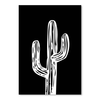Americanflat 'Cactus on Black' by Ashlee Rae Graphic Art