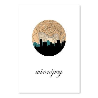 Americanflat 'Winnipeg Map Skyline' by PaperFinch Graphic Art