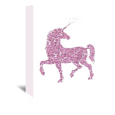 Americanflat 'Pink Glitter Unicorn' Graphic Art Wrapped on Canvas